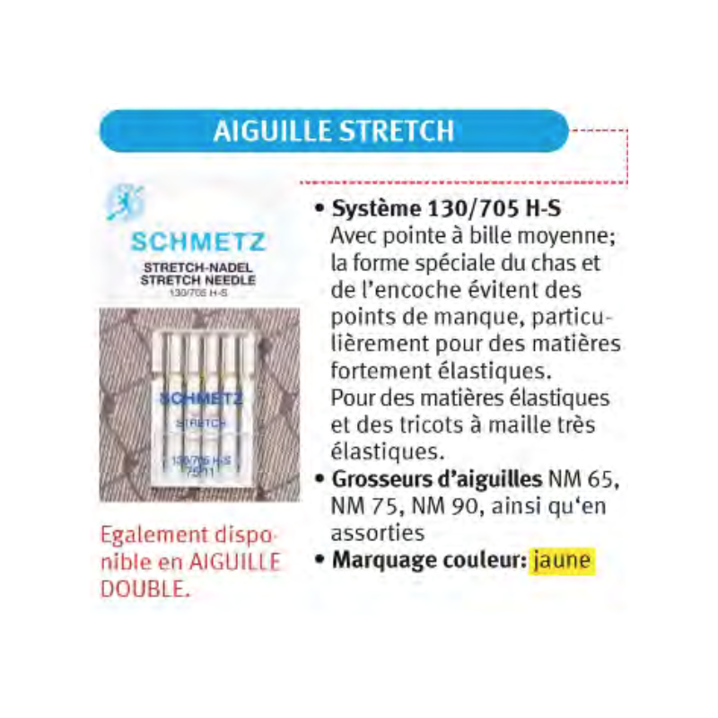 Blister de 5 aiguilles schmetz coudre jersey stretch for Machine a coudre 784