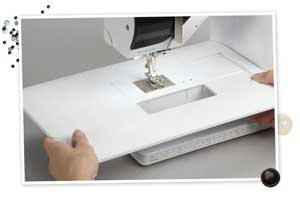 bernina 350 pe tablette extension coudre paris