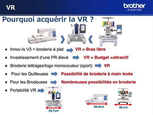 Comparatif machine à broder brother VR coudre paris