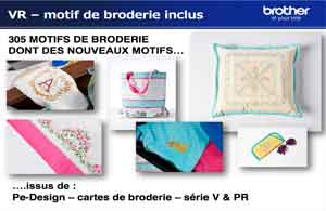 MOTIF DE BRODERIE MACHINE à broder brother vr