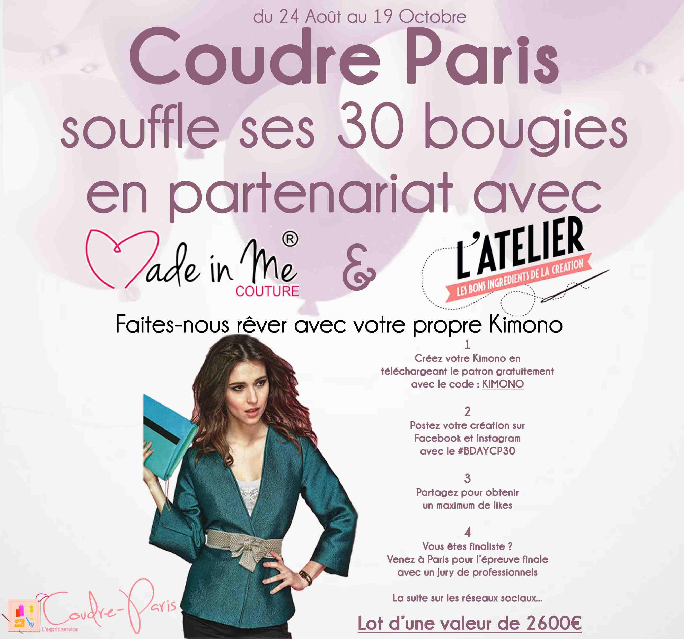 Jeu Concours Coudre Paris