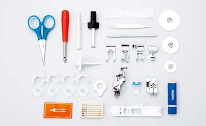 Photo des accessoires machine à coudre et broder brother nv 955