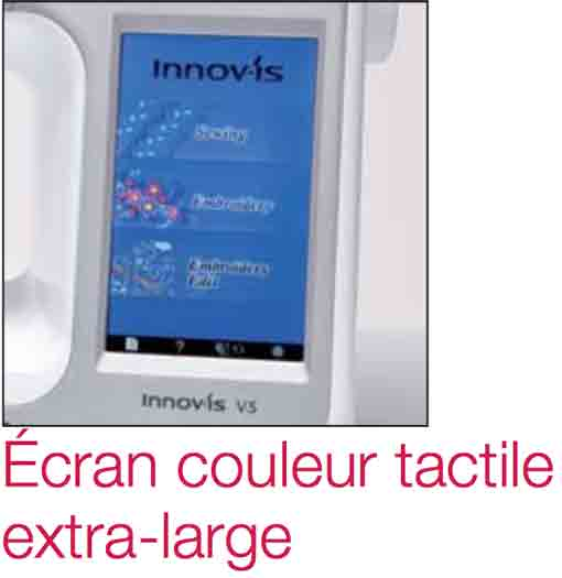 écran lcd machine à coudre et broder brother Innov'is V5