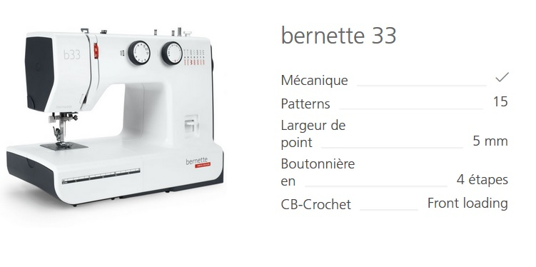 Machine à coudre Bernina B33